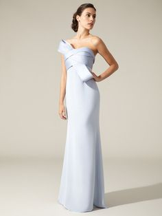 Notte By Marchesa Silk Strapless Gown #white #marchesa #gown