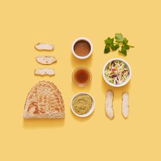 Patterned food arrangements for Panera Bread. David Chow & Haruko Hayakawa