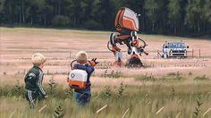 Sci-Fi Dystopia Paintings by Simon Stålenhag