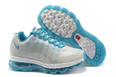 Womens Air Max 95 360 White Blue Shoes #shoes