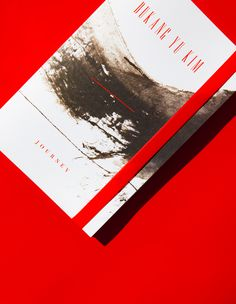 print design, red, booklet, gallery guide