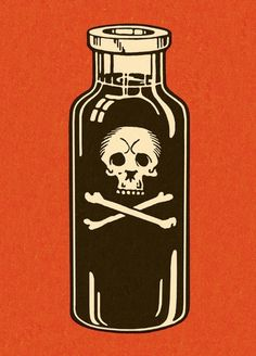 Mulligan Studios — CSA Images #illustration #bottle #poison #skull