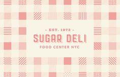 Sugar Deli #pattern #food #brand #identity #logo #typography