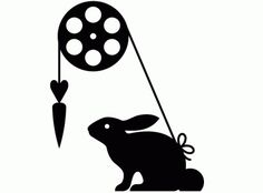 DEMO #carrot #black #silhouette #logo #rabbit