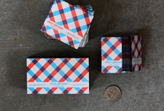 Plaid Business cards for Chris - The Dingbat's Agenda #business #card #design #graphic #plaid