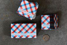 Plaid Business cards for Chris - The Dingbat's Agenda