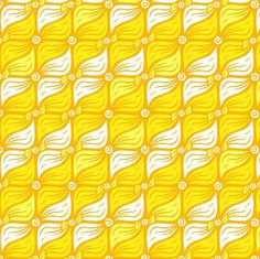 Warm and Leafy by penina, click to purchase fabric #fabric #yellow #pattern