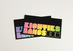 Eighties Bangs Business Cards #card #stamp #rainbow #foil
