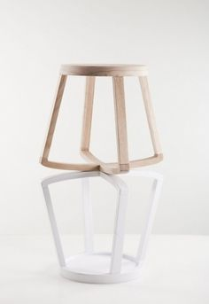 Monarchy stool by Yiannis Ghikas | Yatzer #interior #white #design #stool #wood #furniture #balance
