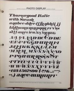 Daily Type Specimen | Thorowgood Italic with swash. A decent copy of...