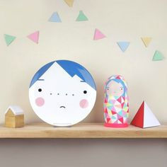 Beau Blue Plate for Kids from Sketch Inc. #interior #design #decor #deco #decoration