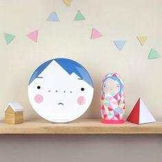 Beau Blue Plate for Kids from Sketch Inc. #interior #design #decor #deco #decoration