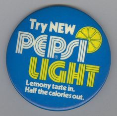 Pepsi Light Button | Flickr - Photo Sharing! #retro #branding