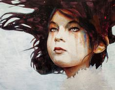 Zoe by MichaelShapcott #painting #portrait