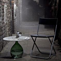 daevas nodo coffee table pattern concrete wine container #wine #bottle