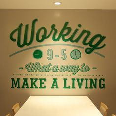 Holiday Inn mural #wall #mural #typography