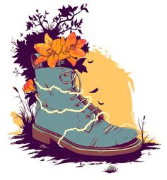illustration on the Behance Network #print #shirt #illustration #drawn #tee #boot #hand
