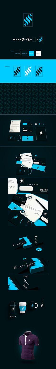 MS: Monogram Personal Branding #monogram #logo #branding #corporate #mockup