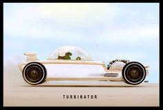 Image:Fred-turbinator.jpg - Kustomrama #illustration #car