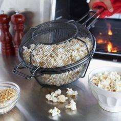 Nonstick Mesh Popcorn Grill Pan #tech #gadget #ideas #gift #cool