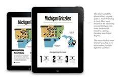 Oakland University Alumni Digital Magazine on Behance #infographics