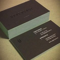 Uppercase business cards #design #business cards #business card #photo #black #uppercase #mint #mamas sauce
