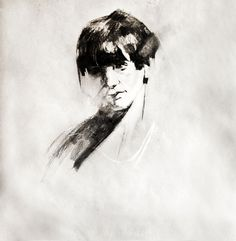 charcoal drawing on Drawing Served #portrait #drawing