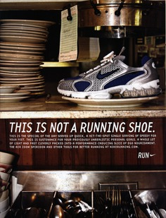 Retro Sports Ad #7, Nike Running, Air Zoom Spiridon, Sports Illustrated August 11, 2003.
