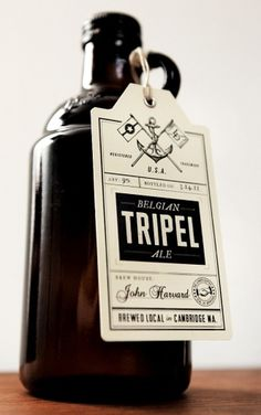 TRIPEL brew hang tag #packaging #beer