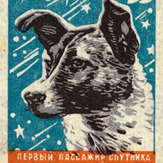DOGMONAUT #stamp #war #russian #soviet #cold #space #illustration