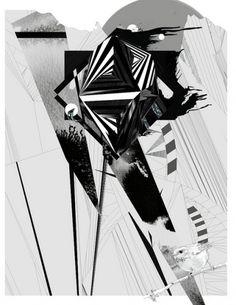 Flickr: Your Photostream #gabriel #pulecio #geometric #bird #inks #idol #watercolor #lustix