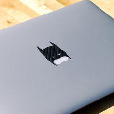 Carbon Fiber Batman MacBook Decal #tech #flow #gadget #gift #ideas #cool