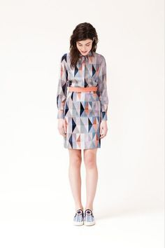 MOP RST14 #geometry #pattern #triangle #fashion #dress