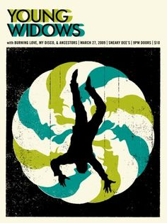 GigPosters.com - Young Widows - Burning Love - My Disco - Ancestors #doublenaut #gig #design #print #screen #illustration #poster