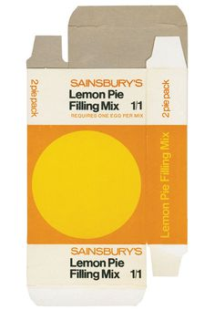 TypeToy - Graphic Finds : Photo #sainsburys #packaging #yellow #dieline #food #simple #vintage #minimal #circle #lemon