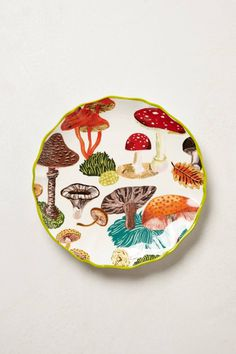 Nathalie Lete Side Plate - anthropologie.eu #mushrooms #plate #vessels