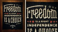 Declaration of Independence Campaign | Jack Daniel's | Helms Workshop #whiskey #lettering #daniels #jack #handmade #type
