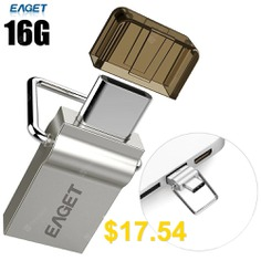 EAGET #CU10 #16G #USB #3.0 #to #Type-C #Flash #Drive #- #SILVER