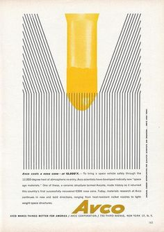 Avco Ad | Flickr - Photo Sharing! #page #graphic #illustration #vintage #modernism