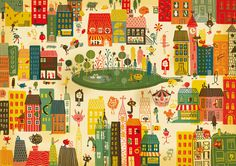 ARHOJ > Lejerbo #city #illustration #poster #buildings