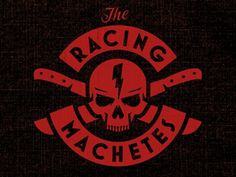 Dribbble - Machete Skull by Brandon Rike #racing #crossbones #logo #skull #motorcycle