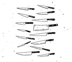 #illustration #knives