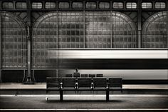 Kai Ziehl | PHOTODONUTS PHOTOGRAPHY INSPIRATION #train #white #black #and