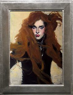 Preview: Malcolm Liepke at Arcadia Fine Art | Hi Fructose Magazine #woman #painting #red hair