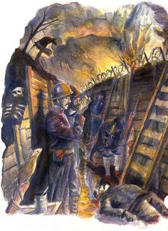 LB8_Tijd.indd | Flickr - Photo Sharing! #zandbergen #war #illustration #ton #trenches
