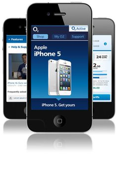 O2 - Apple iPhone5 Launch mobile page on Behance