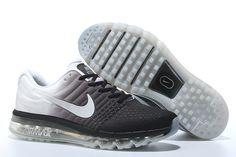 Knitting line all palm nano drop plastic technology Men's Air Max 2017 Sports Shoes black gray