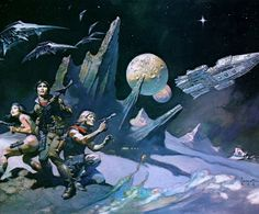 frank_frazetta_space103attack.jpg (1300×1079) #space #spaceship #concept #frank #art #frazetta