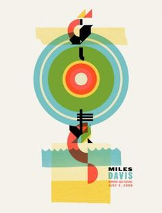 Warner Bros. Records Art Shows - Welcome Miles Davis by Dan Ibarra #silkscreen #poster