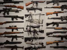 liu bolin gun rack eli klein gallery designboom 14 #bolin #gun #liu #art #invisible